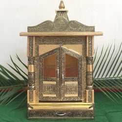 "17"" Wooden Temple (Mandir)-Crafts N Chisel - Indian handicrafts home decor USA"
