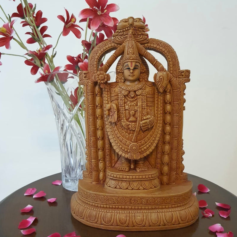 Lord Balaji Idol - Decorative Figurines-Crafts N Chisel-Indian Handicrafts Online USA