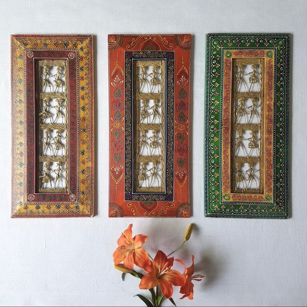 "Dhokra Rajasthani Photo Frame 20"" (Set of 3) - Wall Hanging - Wall Decor - Home Decor"