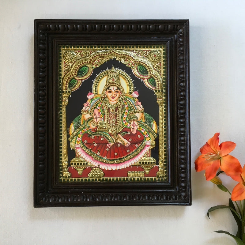 Goddess Laxmi Tanjore Painting - Traditional Wall Art - Crafts N Chisel - Indian home decor - Online USA