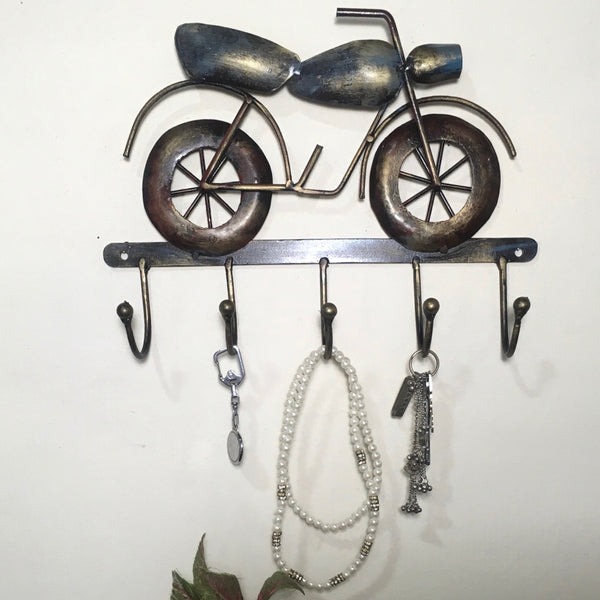 Decorative Wall Mounted Vintage Bike Key Holder - Crafts N Chisel - Indian home decor - Online USA