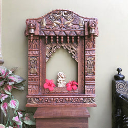 Decorative Wooden Elephant Jharoka - Wall Decor - Crafts N Chisel - Indian home decor - Online USA