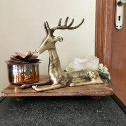 Handcrafted Brass Deer