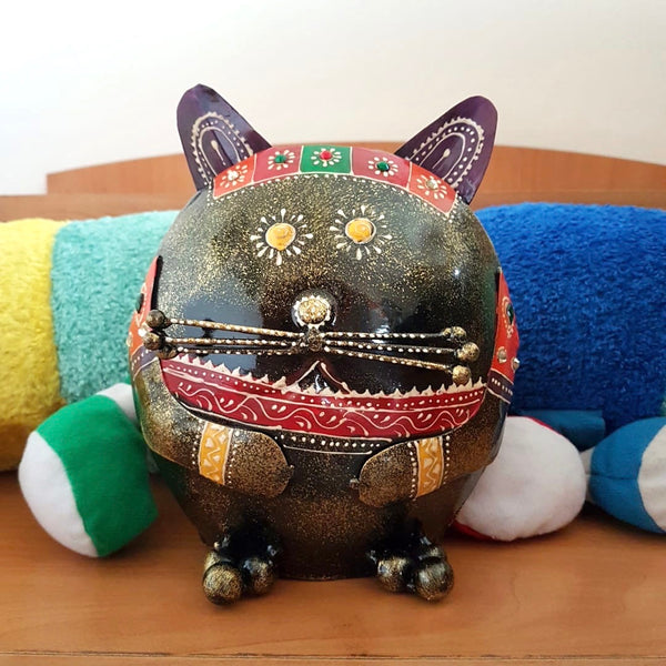 Cat Piggy Bank For Boys & Girls - Great Gift For Kids - Crafts N Chisel - Indian home decor - Online USA