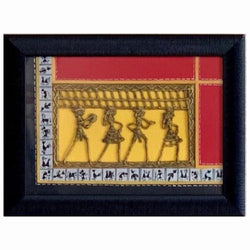 Dhokra & Warli Wall Hanging - Artistic Brass Wall decor - Home Decor - Decorative Gift Item-Crafts N Chisel - Indian handicrafts home decor USA