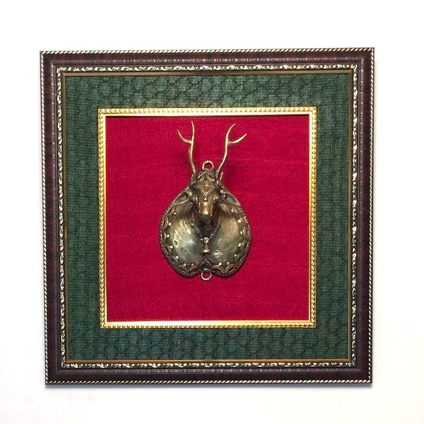 Dhokra Deer Wall Decor - Crafts N Chisel - Indian home decor - Online USA