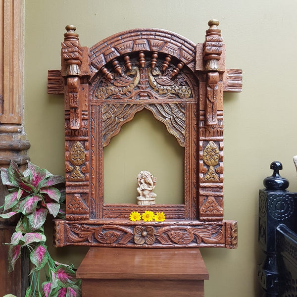 Decorative Wooden Jharoka - Wall Decor - Crafts N Chisel - Indian home decor - Online USA