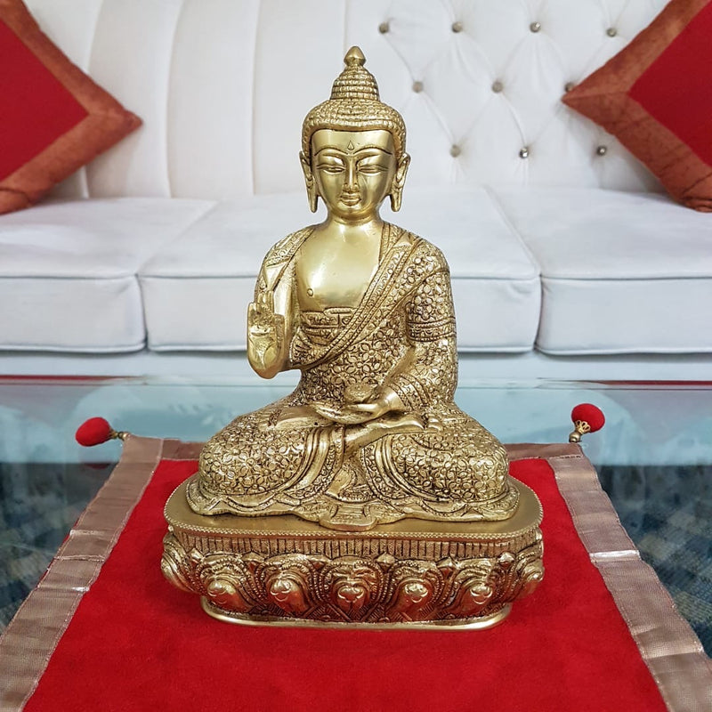Lord Buddha Idol - Brass Art - Religious - Decorative - Crafts N Chisel - Indian home decor - Online USA