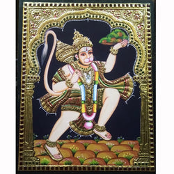 Lord Hanuman Tanjore Painting - Traditional Wall Art - Crafts N Chisel - Indian home decor - Online USA
