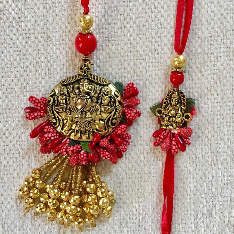 Unique and designer Rakhi Set for Bhai Bhabhi - Rakshabandhan Festival Celebration - Crafts N Chisel