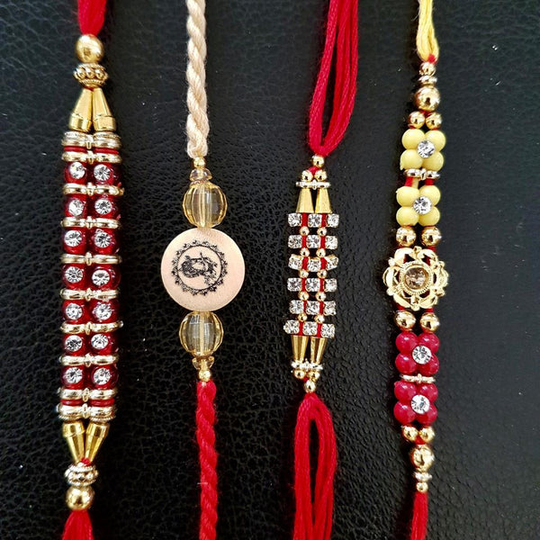 Rakhi Set of 4 - Rakshabandhan Festival Celebration - Home Decor - Crafts N Chisel