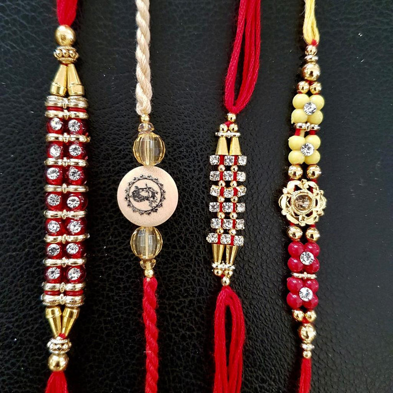 Rakhi Set of 4 - Rakshabandhan Festival Celebration - Crafts N Chisel - Indian home decor - Online USA