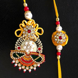 Rakhi Set for Bhai Bhabhi - Rakshabandhan Festival Celebration - Crafts N Chisel - Indian home decor - Online USA
