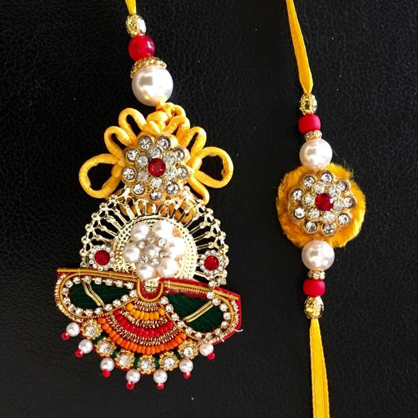 Rakhi Set for Bhai Bhabhi - Rakshabandhan Festival Celebration - Home Decor - Crafts N Chisel