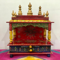 Wooden Temple (Mandir) - Open Design - Home Decor - Crafts N Chisel