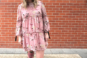 Breezy Pink Smock Dress <BR> On Sale