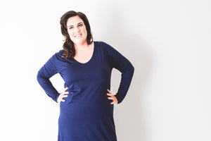 Hendrix Dress in Navy <BR> On Sale