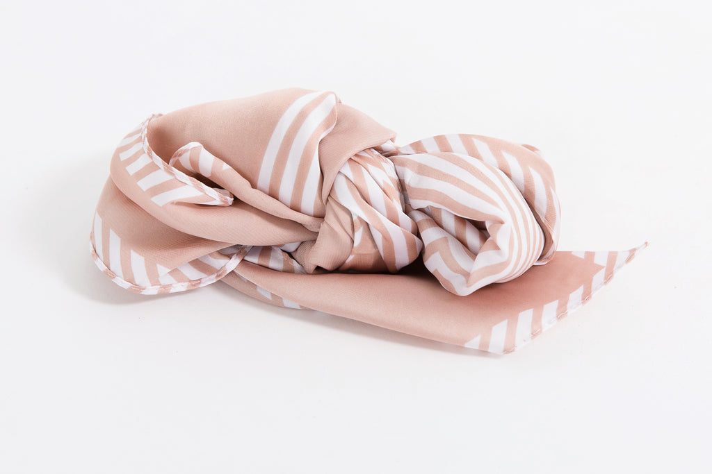 Silk Rose Head Scarf