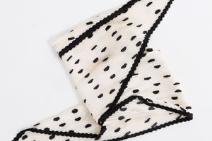 White with Black Spot Head Scarf