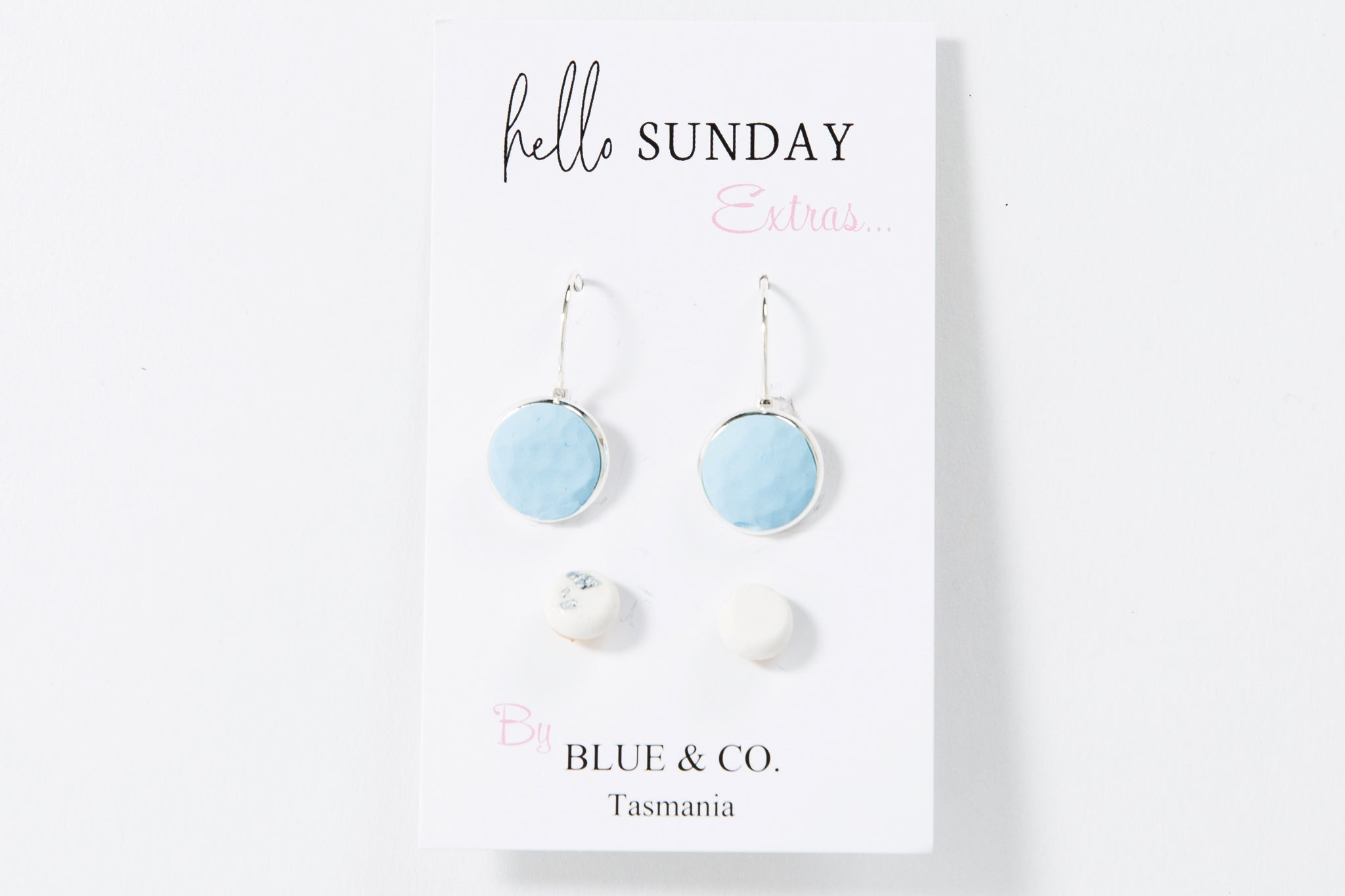 Baby Blue- Clay Drop Earring set <br> On Sale