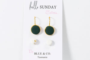 Jade - Clay Drop Earring set <BR> On sale