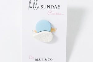 Baby Blue - Clay Ring set