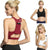Women's Solid Soft Fitness Bra With Back Pocket