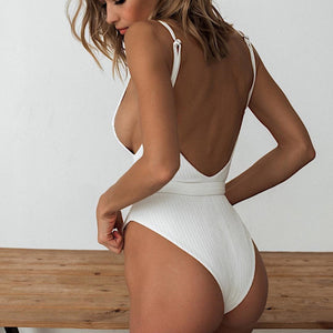 Blanco Buckled One-Piece Beachwear