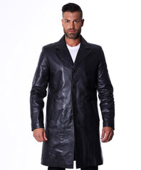 Men's Genuine Nappa Lamb Leather Coat - MEN - APPAREL - OUTERWEAR - COATS - Mates In Style Fashion