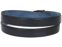 PAUL PARKMAN Men's Navy Genuine Python (snakeskin) Belt (ID#B03-NVY) - MEN - ACCESSORIES - BELTS - Mates In Style Fashion