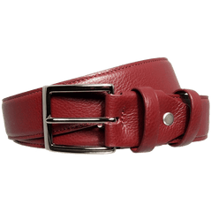 34mm Duo Ply Calf Leather Belt Rosewood - MEN - ACCESSORIES - BELTS - Mates In Style Fashion