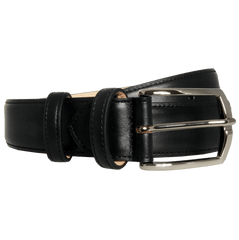 35 Mm Sartorial Buffed Leather Belt Black - MEN - ACCESSORIES - BELTS - Mates In Style Fashion