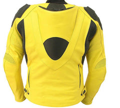 Yellow Biker Genuine Leather Jacket - MEN - APPAREL - OUTERWEAR - JACKETS - Mates In Style Fashion