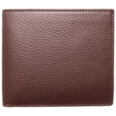 8 CC Small Pebbled Calf Leather Billfold Wallet Brown | Buy MEN - ACCESSORIES - WALLETS & SMALL GOODS Products Online With the Best Deals at Anbmart.com.au!