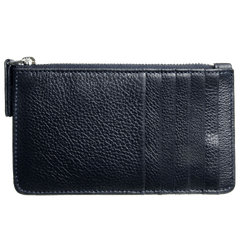 5 CC Grained Calf Leather Zip Wallet Blue | Buy MEN - ACCESSORIES - WALLETS & SMALL GOODS Products Online With the Best Deals at Anbmart.com.au!