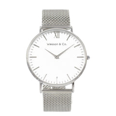 Silver Mesh / White - MEN - ACCESSORIES - WATCHES - Mates In Style Fashion