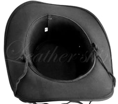 Men Handmade Black Leather Hat - MEN - ACCESSORIES - HATS - Mates In Style Fashion