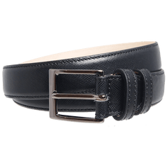 30 Mm Sartorial Saffiano Belt Black | Buy MEN - ACCESSORIES - BELTS Products Online With the Best Deals at Anbmart.com.au!