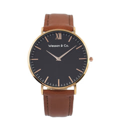 Rose Gold Black / Brown - MEN - ACCESSORIES - WATCHES - Mates In Style Fashion