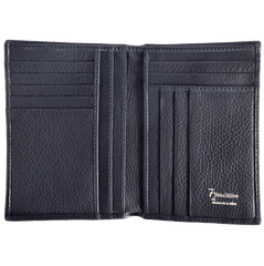 8 CC Grained Calf Leather Pocket Billfold Blue | Buy MEN - ACCESSORIES - WALLETS & SMALL GOODS Products Online With the Best Deals at Anbmart.com.au!