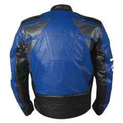 Blue Biker Racing Leather Jacket | Buy MEN - APPAREL - OUTERWEAR - JACKETS Products Online With the Best Deals at Anbmart.com.au!