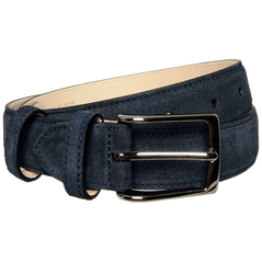 30 Mm Sartorial Suede Belt Navy | Buy MEN - ACCESSORIES - BELTS Products Online With the Best Deals at Anbmart.com.au!