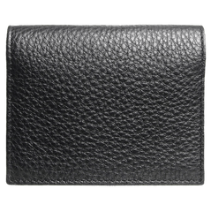 Pebbled Calf Leather Card Wallet Black | Buy MEN - ACCESSORIES - WALLETS & SMALL GOODS Products Online With the Best Deals at Anbmart.com.au!