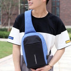 Antitheft External USB Charging Incline Shoulder Bag - MEN - BAGS - BACKPACKS - Mates In Style Fashion