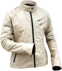 White Hot Unisex Leather Jacket - WOMEN - APPAREL - OUTERWEAR - JACKETS - Mates In Style Fashion