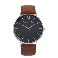 Silver Black / Brown - MEN - ACCESSORIES - WATCHES - Mates In Style Fashion