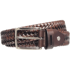 34mm Leather Elastic Weave Belt Brown | Buy MEN - ACCESSORIES - BELTS Products Online With the Best Deals at Anbmart.com.au!