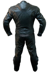 Black Biker Racing Leather Suit - MEN - APPAREL - OUTERWEAR - JACKETS - Mates In Style Fashion
