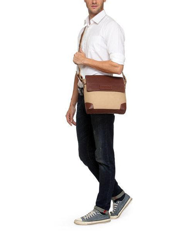 Phive Rivers Men's Khaki Messenger Bag-PR1152 - MEN - BAGS - CROSSBODY - Mates In Style Fashion