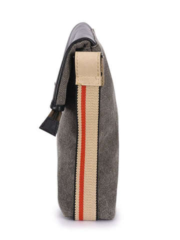 Phive Rivers Men's Leather And Canvas Multicolor Messenger Bag - MEN - BAGS - CROSSBODY - Mates In Style Fashion
